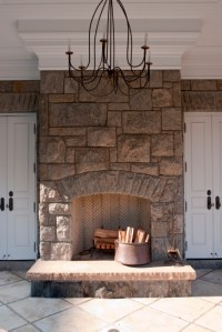 Fireplace Stone Work - Home Design
