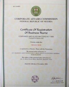 Trolex Registration CAC Certificate