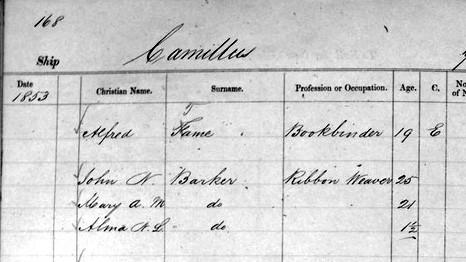 camillus passenger list