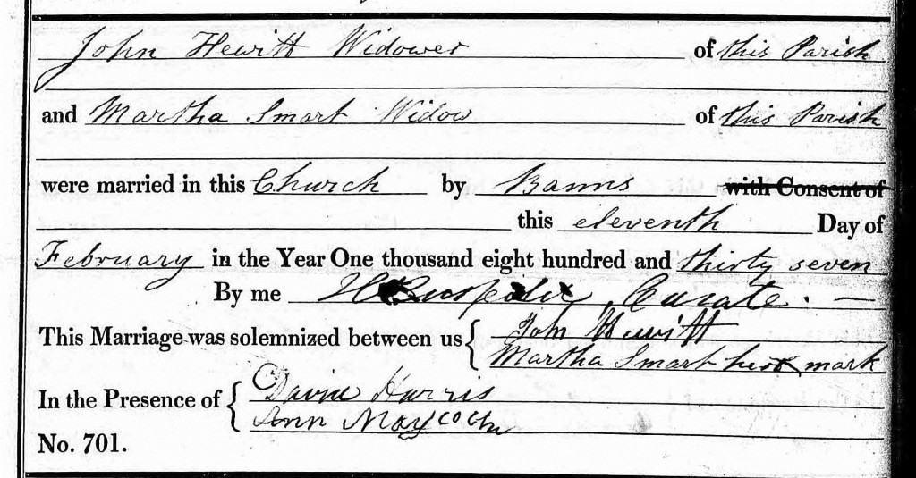 martha smart john hewitt mg 1837