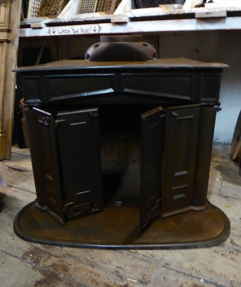 Ic0452 Antique Franklin Wood Stove