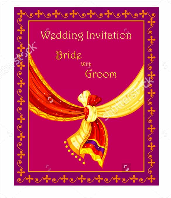 47 blank wedding card templates psd
