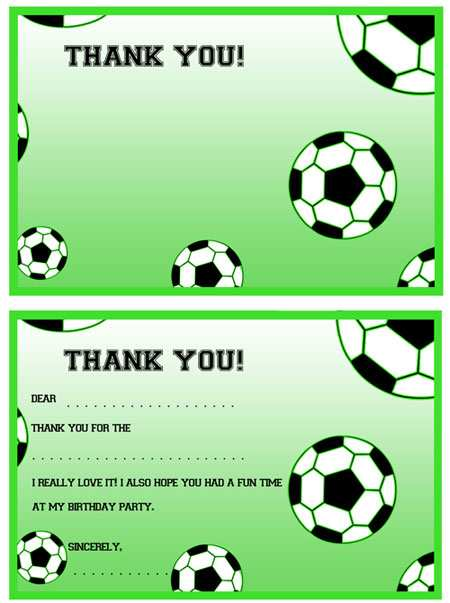 48 printable soccer thank you card