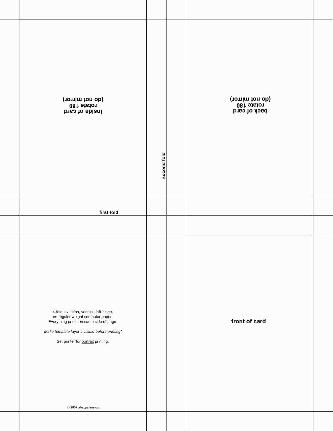 Foldable Birthday Card Template Word : foldable, birthday, template, Customize, Birthday, Template, Cards, Design, Templates