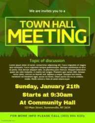 76 How To Create Town Hall Flyer Template in Photoshop with Town Hall Flyer Template Cards Design Templates