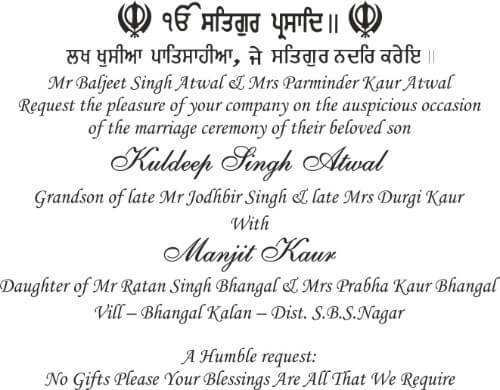 77 Blank Sikh Wedding Card Templates