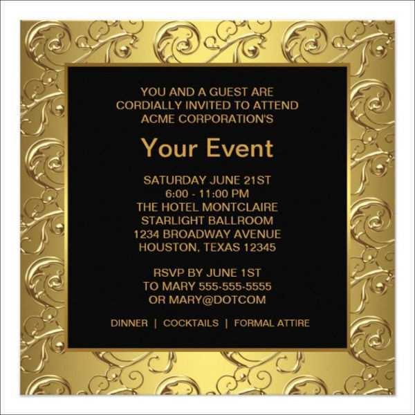 98 blank invitation card event template