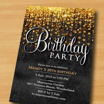 29 the best elegant birthday invitation