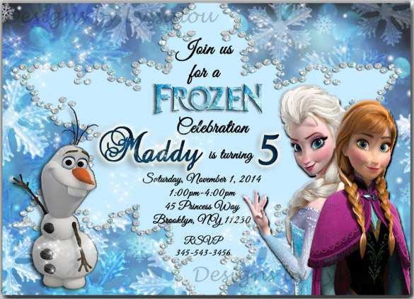 54 printable frozen birthday invitation