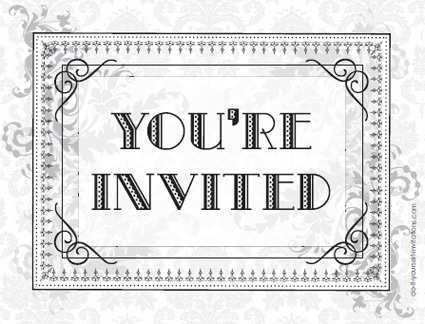85 format birthday invitation template