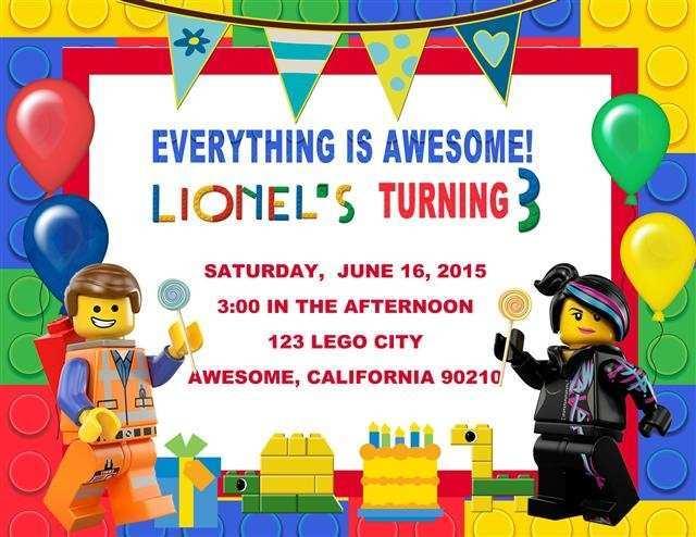 lego birthday party invitation template