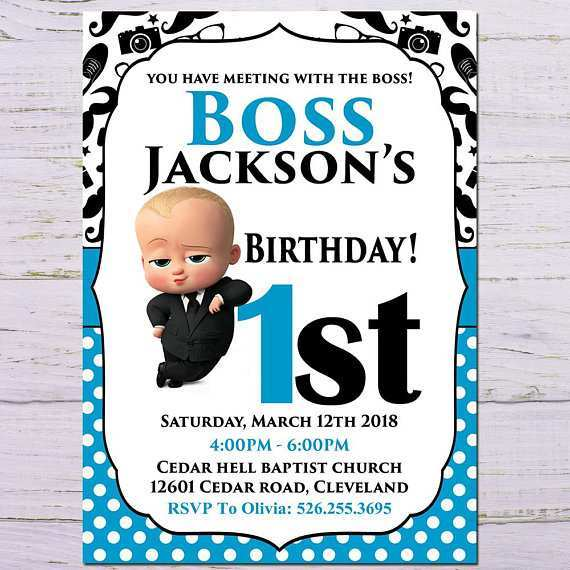 boss baby birthday invitation template