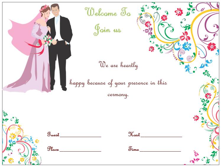 editable wedding invitation template