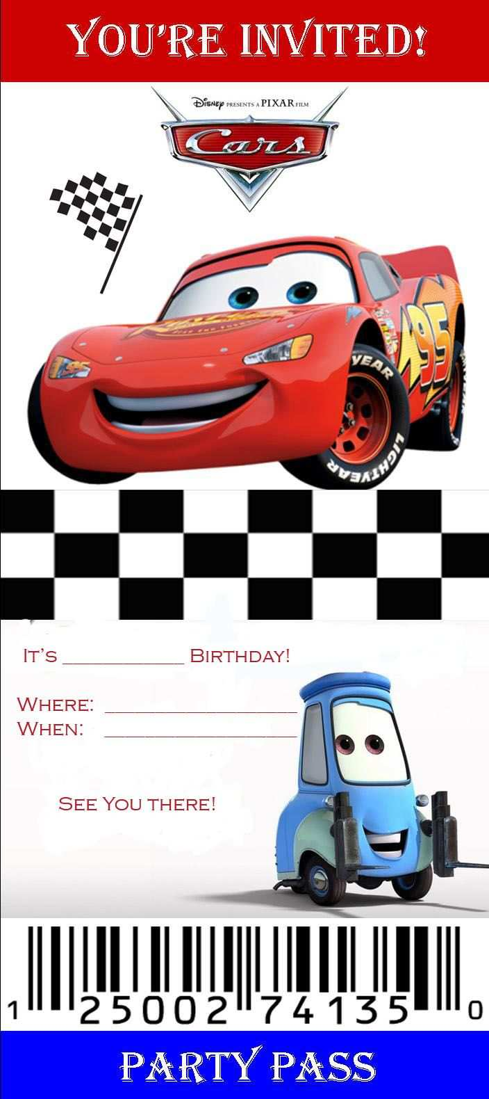 21 best disney cars birthday invitation