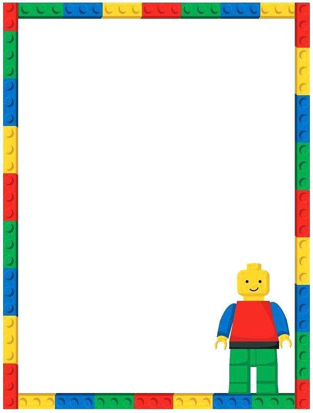 23 blank lego party invitation template