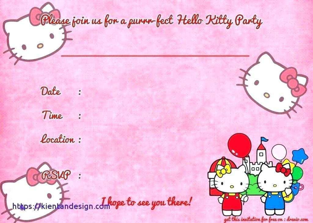 31 best hello kitty birthday invitation