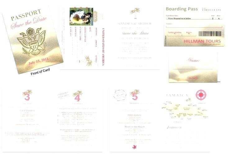 free passport wedding invitation