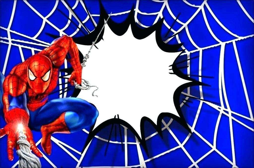 spiderman birthday invitation template