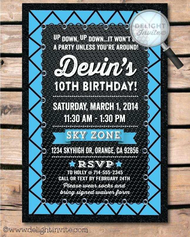 42 printable trampoline birthday party