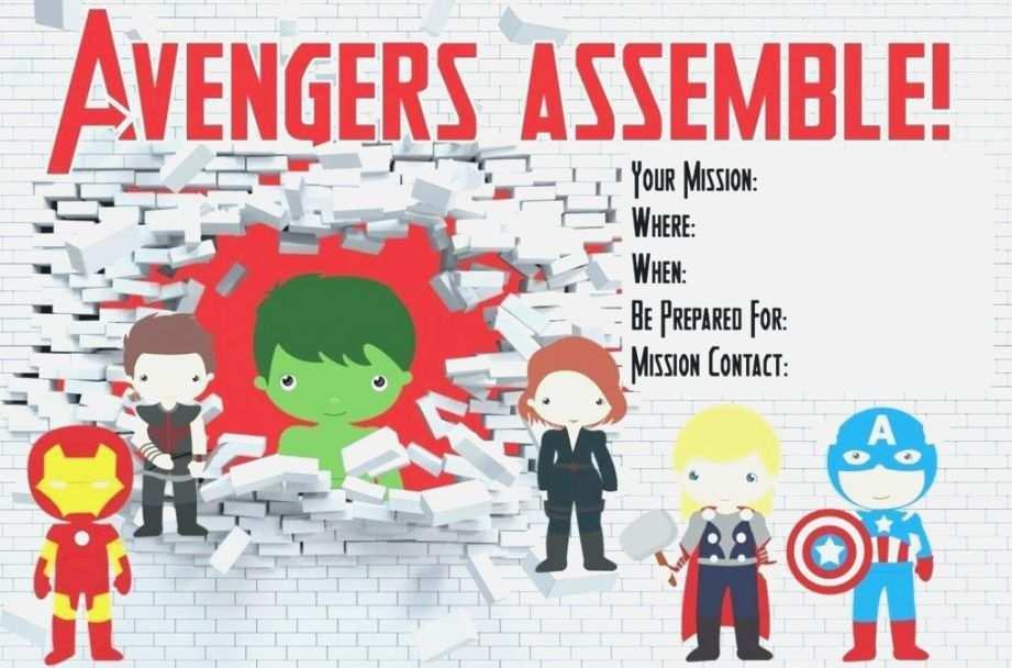 44 blank avengers birthday invitation