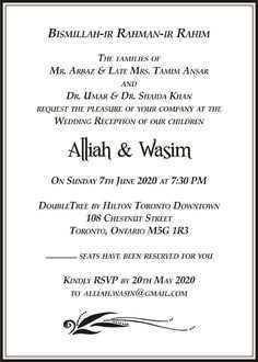 45 Creating Muslim Wedding Invitation
