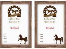 50 format horse birthday invitation