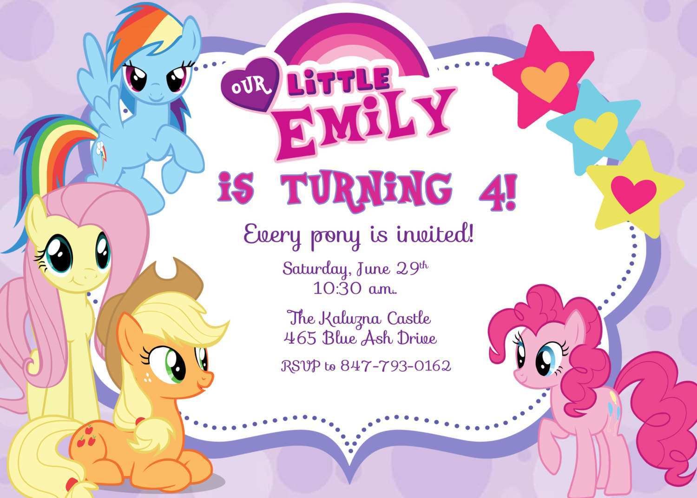 50 printable my little pony birthday