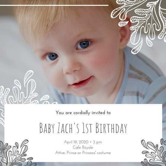 52 blank birthday invitation template
