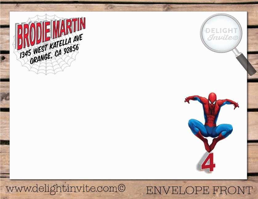 spiderman birthday invitation template