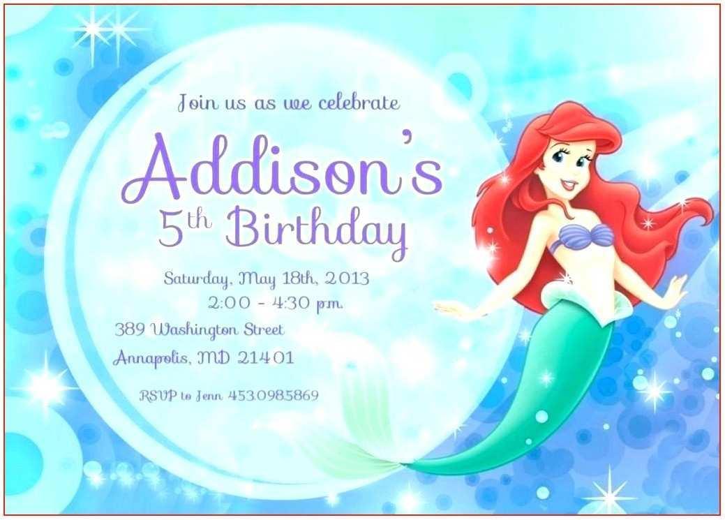 63 free little mermaid birthday