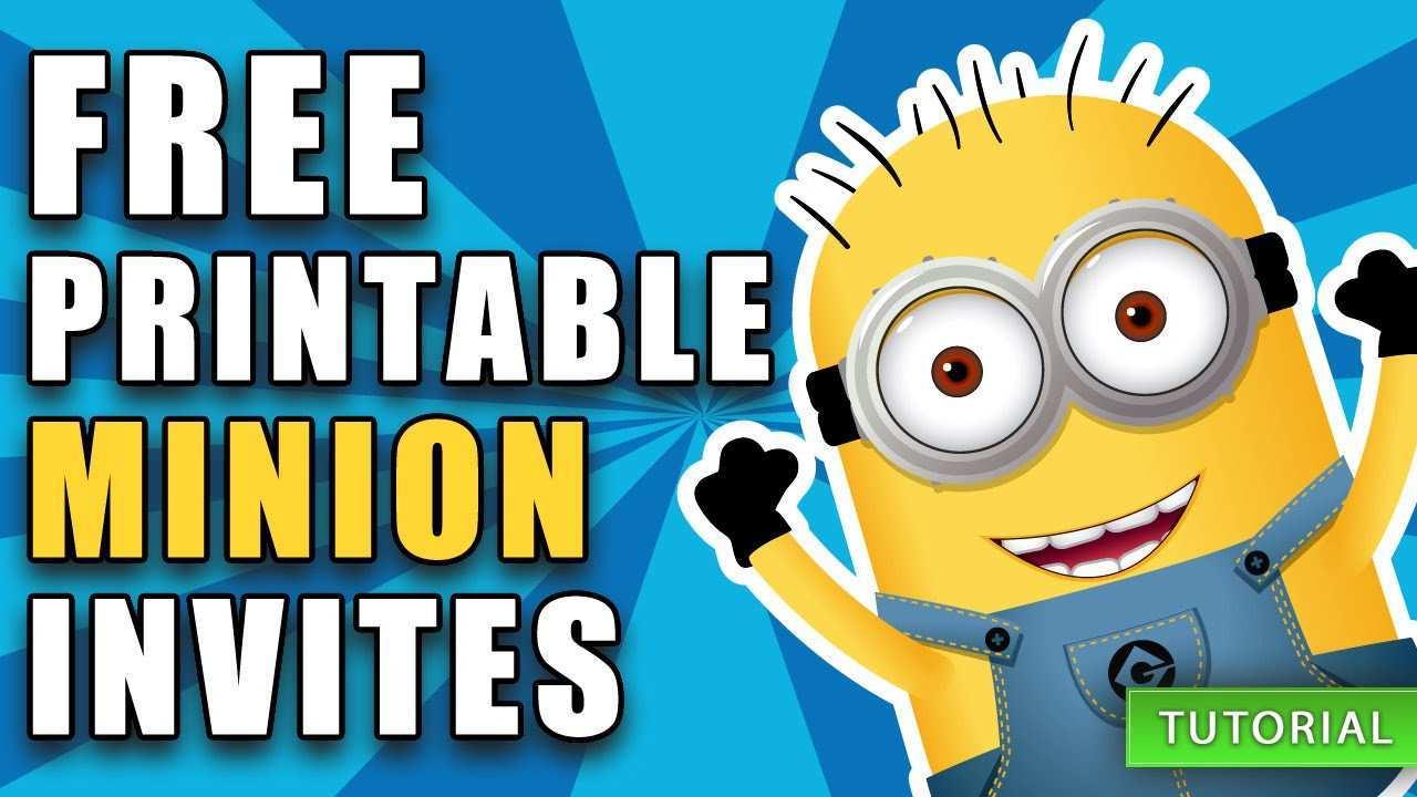 67 creative minions birthday invitation