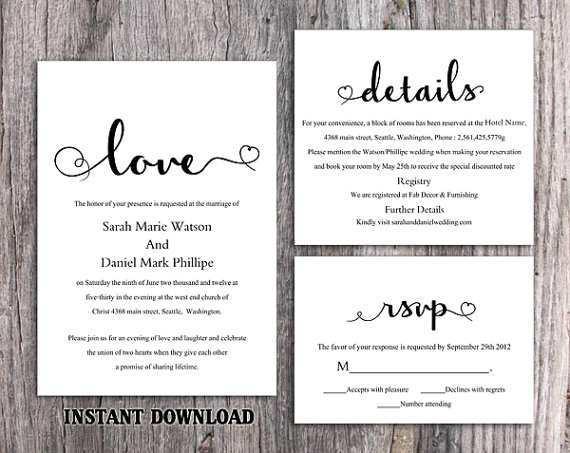 67 The Best Diy Wedding Invitation