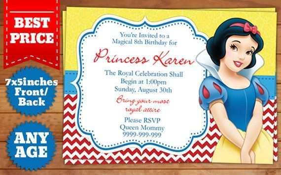 birthday invitation template snow white