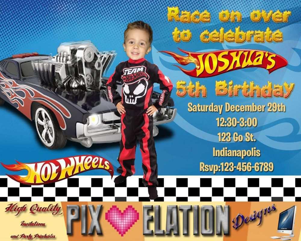 73 blank hot wheels birthday invitation