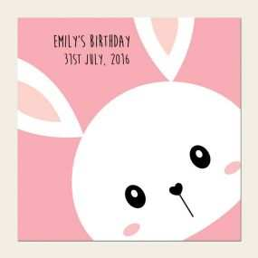 bunny birthday invitation template free