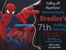 77 adding spiderman party invitation