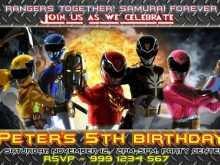 77 free power rangers birthday
