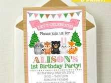 37 blank woodland birthday invitation