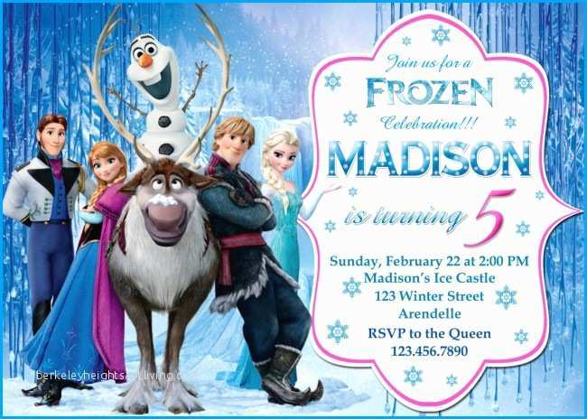 birthday invitation template frozen