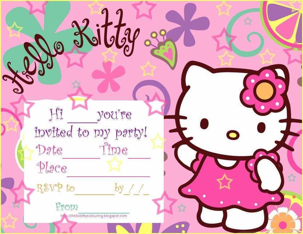 83 best hello kitty birthday invitation
