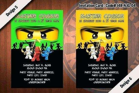 ninjago party invitation template