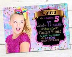 jojo siwa party invitation template