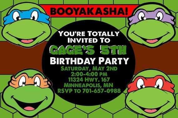 90 format ninja turtle birthday