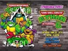 71 format ninja turtle party invitation
