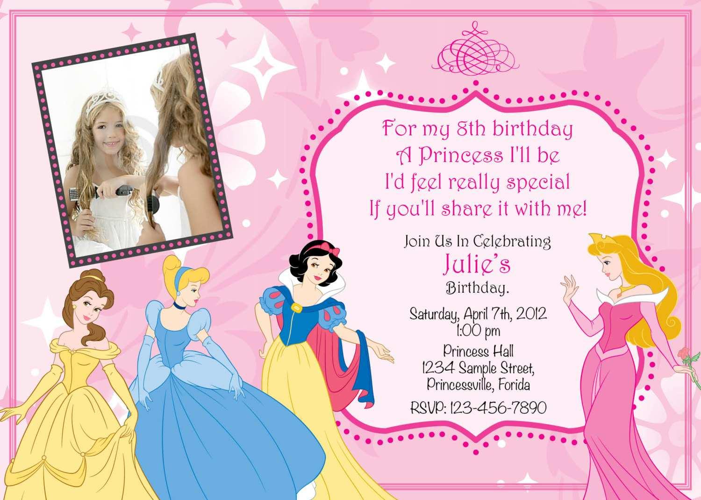 92 format disney princess birthday