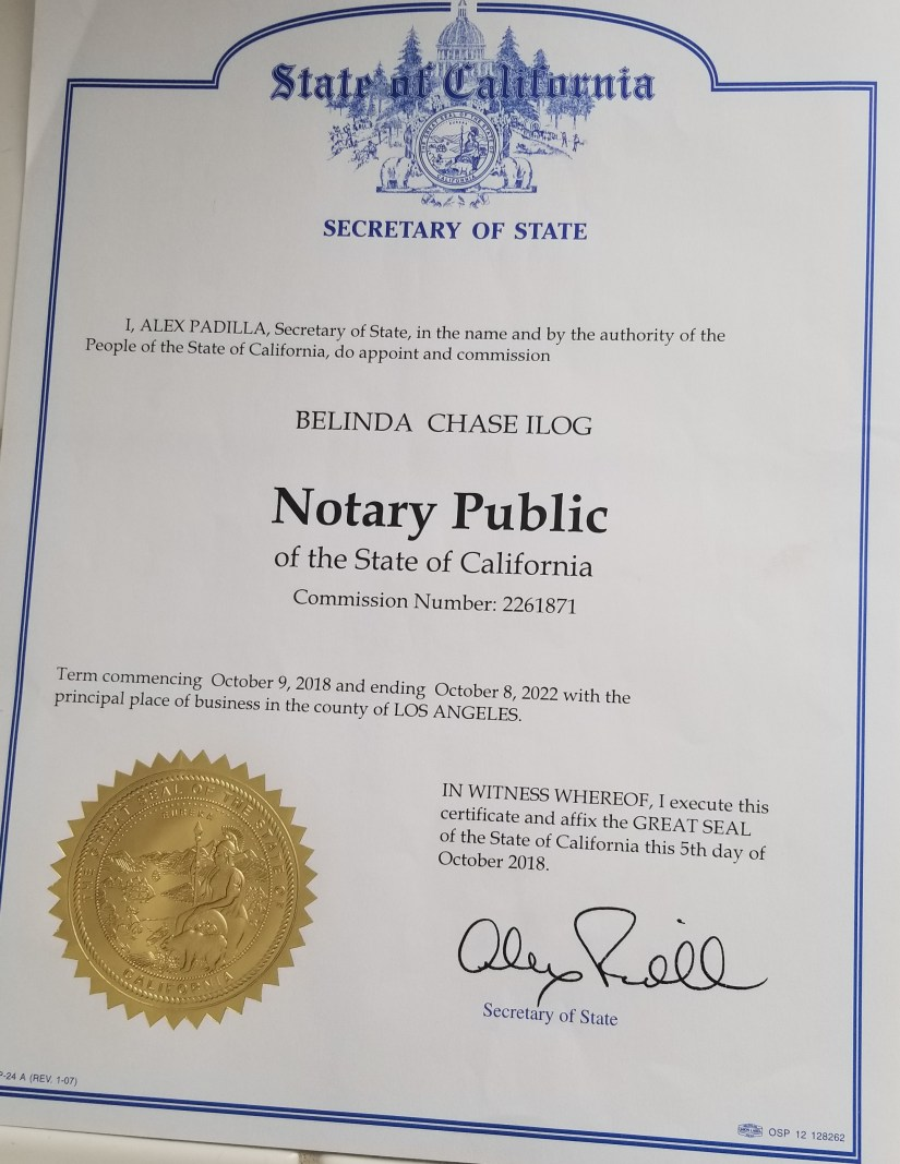 certified notary 2018