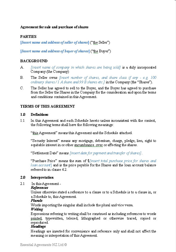 These free business plan templates will help you create a roadmap to growth and success. Business Sale Contracts New Zealand Legal Documents Agreements Forms And Contract Templates
