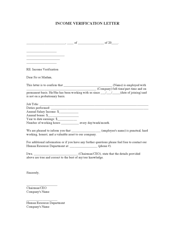 Letter of employment and salary verification , Nursing