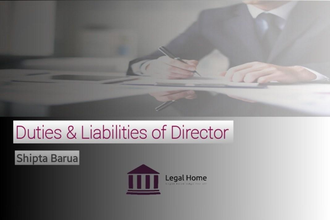 Duties & liabilities of director