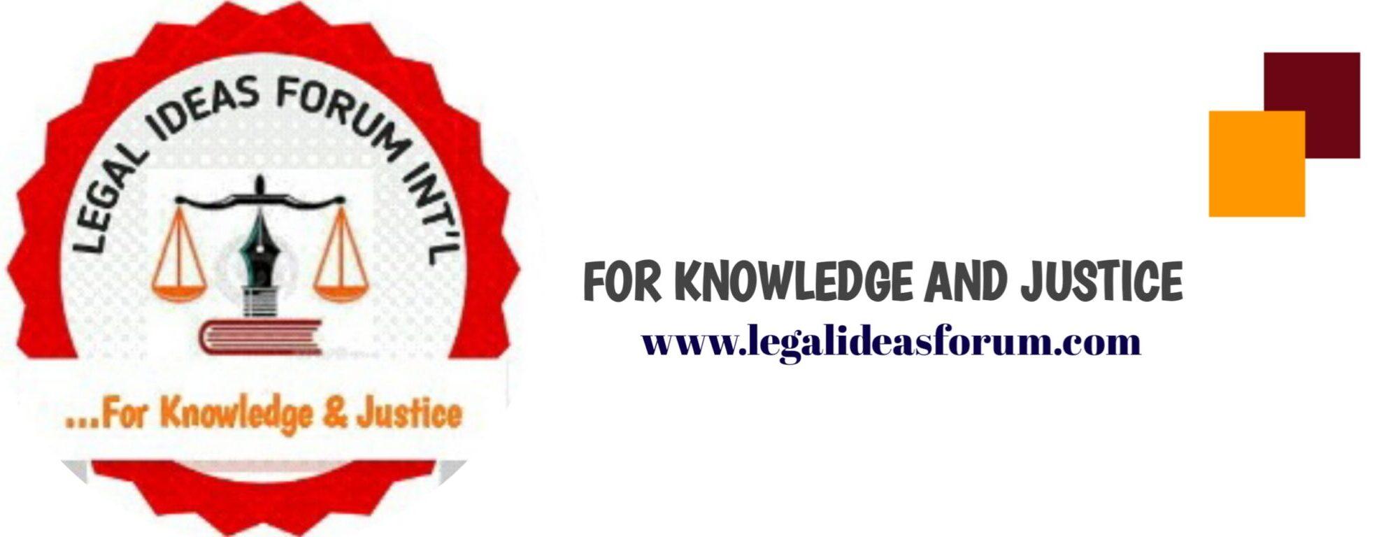 LEGAL IDEAS FORUM